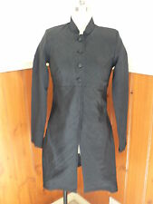 LADIES SUBLYME SHINEY BLACK OVERCOAT LONG JACKET SIZE 8 SMART DRESSY FORMAL