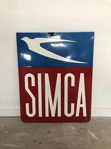 Plaque Emaillee Simca Enamel Sign Emailschild Insegna Smaltata