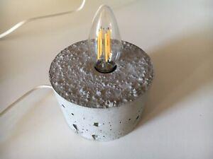 Base Lampada in Cemento Grigio