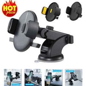 STOCK AUTOMATICALLY LOCKING WINDSHIELD PHONE HOLDER, UNIVERSAL FIT MOBILE