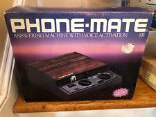 PHONE-MATE 935 Telephone Answering Machine System DUAL Tape Wood Brown NIB