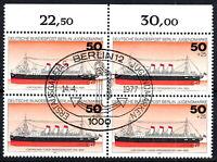 Berlin 546 Vollstempel gestempelt ESST 4 er Block Rand oben mit Gummi 1977