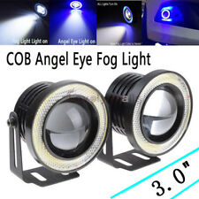 "3.0"" Blue Projector LED Fog Daytime DRL Light COB Halo Angel Eyes FIT BMW"