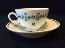 Tasse et sous-tasse porcelaine Paris Manufacture Duc d'Angoulême barbeaux C 1780