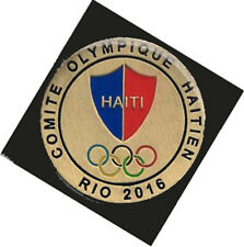 2016 RIO BRAZIL 31st Summer Olympic HAITI dated  NOC Delegation dated Team pin