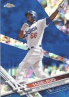 YASIEL PUIG 2017 TOPPS CHROME SAPPHIRE EDITION #375 ONLY 250 MADE