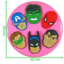 Superhero Silicone Mould by Fairie Blessings
