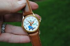 RARE Disney Time Works Goofy Reverse Backwards Watch NOT WORKING Repair Parts