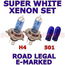 FITS FORD FUSION 2002-ON  SET H4 501 SUPER WHITE  XENON LIGHT BULBS