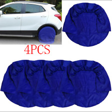 "Blue Set of 4 Wheel Tire Covers For RV Trailer Camper Car Truck For 32"" Diameter"