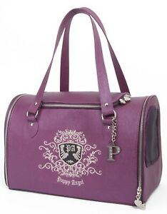 small dog carrier bagPuppy Angel Posh Paws Lux purple cat puppa