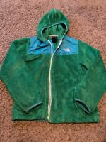 The North Face Youth Girl's Oso Fleece Hoodie Jacket Green Ble Size Large 14/16