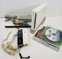 Nintendo Wii White Console (RVL-001) Bundle 5 Games - GameCube Compatible