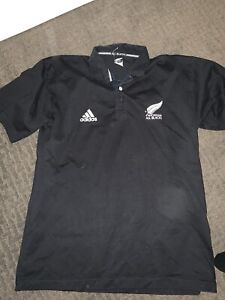 Vintage Adidas New Zealand All Blacks Rugby Jersey Shirt size XL