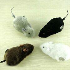 Furry Black Fake Rat Prop Scary Prank Mouse Plush Winding Spring Mouse AqDeN