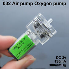 DC 1.5V-6V 3V Transparent Mini Air Pump Micro DC Oxygen Pump 130MA 300mmHg