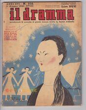 IL DRAMMA 1940 n. 331 - Copertina di Brunetta Mateldi - Copioni in inserzione FJ