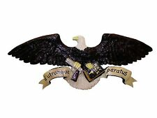 Chainsaw Carving American Eagle Carved Christian Liberty 1st 2nd Amdt Wall Art