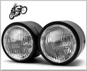 """4"""" Dual Headlight Motorcycle Double H4 Lamp Street Fighter Naked Dominator"""
