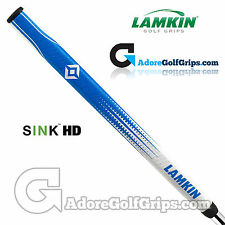 Lamkin SINK HD 15 Inch Midsize Paddle Putter Grip - Blue / White + FREE Tape
