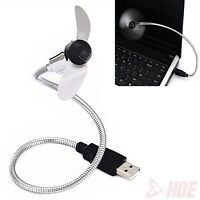 Flexible USB Desk Fan Mini Mobile Small Portable Cooling for PC Laptop Notebook