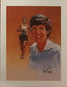 Vintage 1976 Montreal Olympics Frank Shorter Sketch Print Promo Photo Mars USA