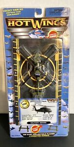 Hot Wings Die Cast UH-60 Black Hawk Helicopter #14130 With Connectable Runways