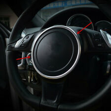 Car Steering Wheel Decorative Cover Trim For Porsche Cayenne Panamera 2010-16