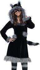Raccoon Costume Girls Teen Tween Plush Furry Sweet Dress Racoon Hoodie - J 0-9
