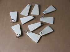 SYCAMORE TRIANGLE KEYRING PYROGRAPHY BLANKS-10 IN PACK-£8.95 INCL POSTAGE