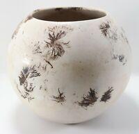 "Vintage Unusual Studio Art Round Bottom Sphere Large 10"" Inch Pottery Vase"