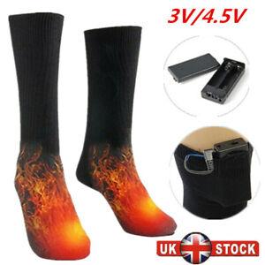 Electric Heated Socks Boot Feet Warmer USB Rechargable Battery Socks Wintersport
