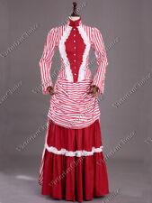 Viktorianisch Edwardianisch Streifen Steampunk Mary Poppins Turnüre Kostüm 139