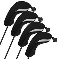 USA 4Pcs/set Light Neoprene Black Blue Hybrid UT Golf Club Head Cover Headcovers