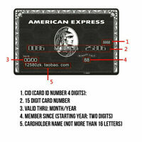 Customise your own American Express Centurion Card Amex Metal 304 Black Card