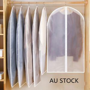 Dustproof Storage Bag Garment Dress Cover Suit Clothes Coat Jacket Protector AU