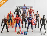 10pcs The Avengers Captain America Spiderman Iron Man Action Figures Toys TG033