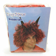 Parrucca Diavolo adulto finta ideale per carnevale e halloween
