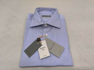 Canali - Purple Impeccabile Dress Shirt in Cotton with Optical Motif
