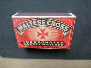 OLD MALTA HOUSEHOLD EMPTY MATCHBOX.DESIGN 2.