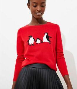 New Ann Taylor LOFT Penguin Luxe Knit Sweater XS