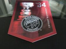 CHICAGO BLACKHAWKS STANLEY CUP BANNER 1934 GREAT CONDITION FREE COMBINED S&H