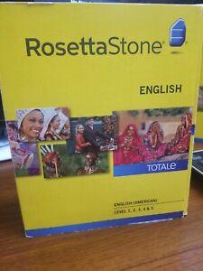 Rosetta Stone English (American) TOTALe v4 Level 1-5 (Retail) (1 User) - Full V…
