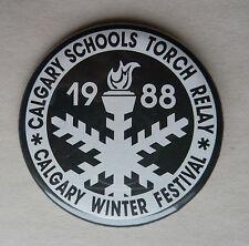 Calgary Schools Torch Relay 1988 Calgary Winter Festival Lapel Button
