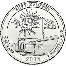 2013 P D Fort McHenry National Memorial MD STATE PARK QUARTER SET BU 25 Cent Ft