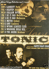 Tonic/Pretty Violet Stain 2000 Australian Concert Tour Poster-Post-Grunge Music