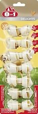 8 in 1 Products Delights Chicken Rawhide Bone XSmall 7 pieces