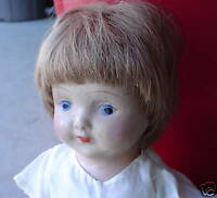 """Vintage Composition and Cloth Character Girl Doll 14"""" Tall"""