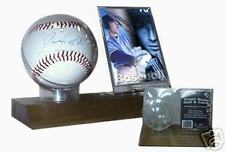 BCW WOOD BASE BALL & CARD HOLDER