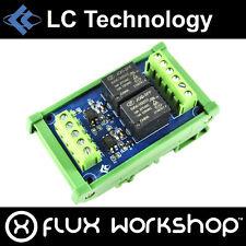 LC Technology 2 Ch 5V Relay Module DIN Rail Mount Flux Workshop